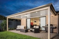 Our Patio not only increase the look of your home, but they also increase your re-sale value. Patios give homeowners the opportunity to maximise the benefits of their outdoor space by creating comfortable social spaces. Timber Pergola, Outdoor Pergola, Outdoor Areas, Outdoor Living Rooms, Outdoor Couch, Pergola Designs, Pergola Ideas, Porch Ideas, Patio Ideas