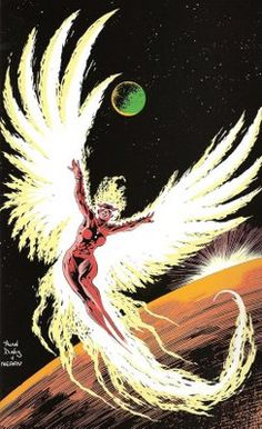Rachel Summers, the Phoenix II.  Art by Alan Davis.