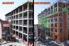 The Strong Hall construction continues! You can really see the difference that four months makes!
