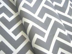 Chloe in Dove- Original Geometric Vintage Inspired Home Decor Fabric