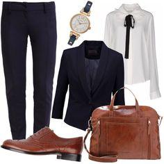 Essenziale e classico  outfit donna Trendy per scuola universit  e ufficio   65cb2833471