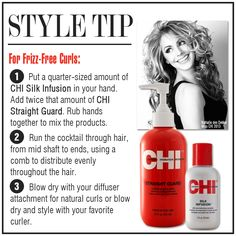 Mt favorite cocktail to use before blow drying and straightening!