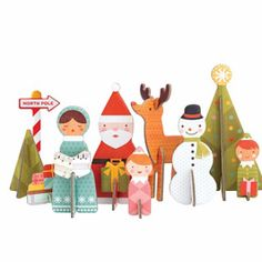 Petit Collage Pop-Out and Build, Winter Wonderland Playset Hanging Mobile, Hanging Art, Holiday Gift Guide, Holiday Gifts, Holiday Decor, Carton Diy, Craft Kits For Kids, Cool Gifts For Kids, Pop Out