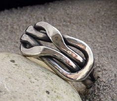 Nudo de plata anillo nudo del amor anillo anillo de por LjBjewelry
