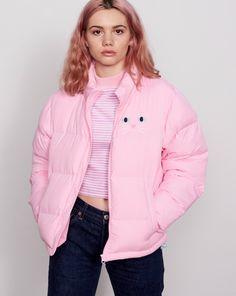 Lazy Oaf Kitty Cat Puffer Jacket - Clothing - New In - Womens