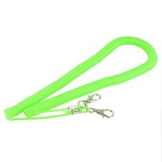 Dimart 6M Contractility Plastic Coiled Cable Green for Fishing >>> Click image to review more details.