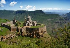 Tatev monastery is a 9th century Armenian monastery located in the Tatev village in Syunik Province in southern Armenia.