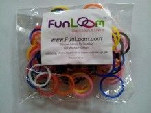 Mixed Colors FunLoom Rubber Bands