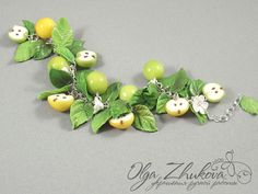 bracelet with apples by polyflowers.deviantart.com on @deviantART