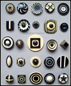 Deco buttons, from Button Central.