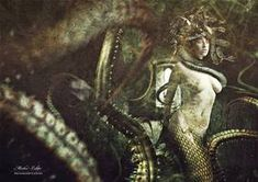 Medusa by Hocspy on DeviantArt Medusa Hair, Medusa Gorgon, Medusa Tattoo, Snake Hair, Blood Elf, Turn To Stone, Beautiful Snakes, Serpent, Tentacle