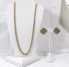 MONET Chain Necklace and Earring Set by KatsCache on Etsy