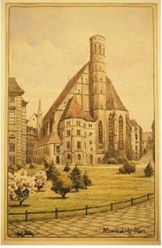 Vienna church Minoritenkirche 5 thousand €  Author Adolf Hitler  Viedenský kostol Minoritenkirche: 5-tisíc €.