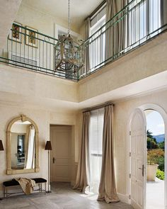 Love the railing and and textures on the walls