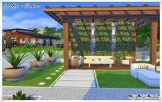 Confort House - casa the Sims 4 Sims 4 Modern House, Sims 4 House Design, Lotes The Sims 4, Sims Cc, Sims 4 Mods, Casas The Sims 4, Sims 4 Build, Beautiful Homes, Lawn