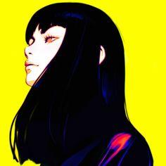Illustration by Ilya Kuvshinov Art Manga, Art Anime, Kuvshinov Ilya, Arte Cyberpunk, Japon Illustration, Poses References, Cartoon Art, Cute Art, Art Girl