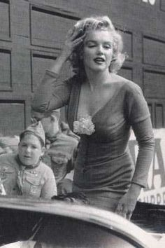 Marilyn at Ebbets Field Stadium, New York, May 12th 1957