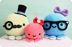 DIY Octopus Family Plush Toy