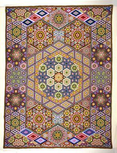 antique hexagon quilts - Google Search