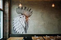 Lulu & Po – Fort Greene, Brooklyn – Exposed concrete, wood and classic subway tiles