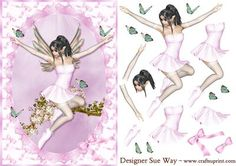 - A delightful fairy taking flight from an apple blossom tree, surrounded by butterfly's. The card front has a pink bow design . Decoupage Printables, 3d Fantasy, Love Fairy, 3d Cards, Bow Design, Blossom Trees, Decoupage Paper, Pretty Cards, Paper Piecing