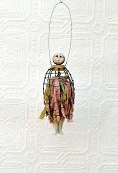 Carla Trujillo - Mixed Media Artist: Mixed Media Wire Doll