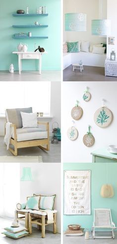 from the kitchen to the bedroom, inspiration on how to add mint