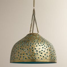 Desiree Metal Bell Pendant Lamp from World Market $69.99 for above the kitchen table