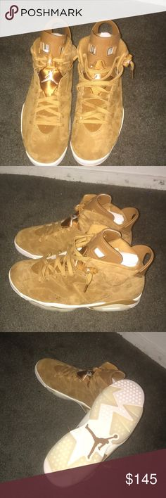 Jordan 6 wheat CYBERMONDAY DEAL ONLY 120 Text me if interested , comes with receipt , serious buyers only ,will take offers (702) 747-3318 Jordan Shoes Sneakers