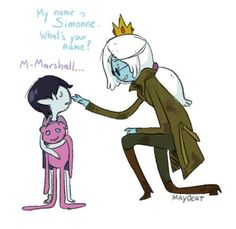 """Adventure Time 370702613060344600 - Simonne and Marshall (Adventure Time with Fionna and Cake) ok this is not a """"couple"""" but its cute Source by aishathyamha Time Cartoon, Cartoon Tv, Cartoon Shows, Cartoon Drawings, Marshall Lee Adventure Time, Adventure Time Anime, Adventure Time Characters, Cartoon Network Adventure Time, Prince Gumball"""