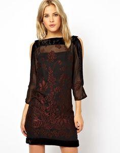 Image 1 ofASOS Cold Shoulder Devore Dress