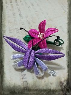 Micro Macrame, Faux Flowers, Hair Pins, Diy And Crafts, Chinese Hairpin, Projects To Try, Wire, Embroidery, Creative