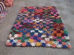 Boucherouite rug {bou2} available at My Medina $295