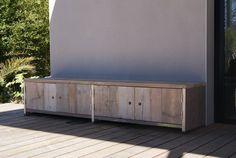 meuble en bois échafaudage