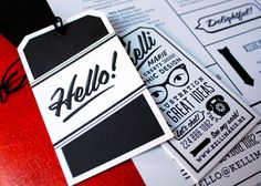 Hang tag business cards
