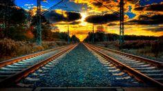 Railroad Track And Sunrise Train Map, By Train, Train Tracks, Sunset Wallpaper, Hd Wallpaper, Distance, Europe Train Travel, Travelling Europe, Wallpaper Keren