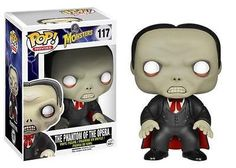 The Phantom of the Opera takes a break from the Paris Opera House and creeps his way into your collection! This Universal Monsters Phantom of the Opera Pop! Vinyl figure stands 3 3/4-Inch tall and comes in a window display box. Featuring the stylized likeness of Lon Chaney, Sr. this Phantom of the Opera Pop! vinyl figure makes a great gift for any Universal Monsters fan!