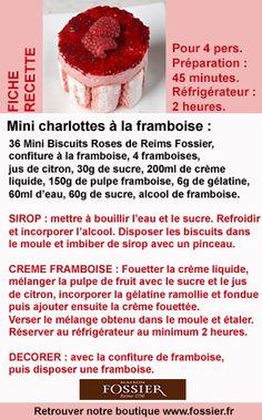 Pour cuisiner de déliceuses mini charlottes à la framboise ! Retrouvez les Mini Biscuits Roses de Reims sur www.fossier.fr !