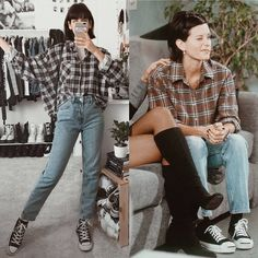 Cute grunge outfits Outfits 30 Cute Grunge Fashion Outfit Ideas to Try This Season Cute Grunge Outfits, Retro Outfits, Vintage Outfits, Grunge Clothes, Classy Outfits, Casual Outfits, Tv Show Outfits, Mode Outfits, Fashion Outfits
