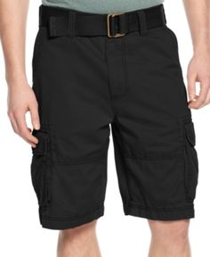 9d5d6b4df American Rag Men's Belted Relaxed Cargo Shorts, Created for Macy's - Black  40 American Shorts