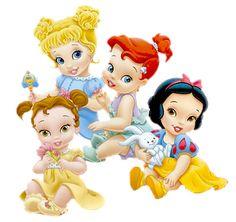 Belle, Cinderella, Ariel & Snow White