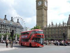 Big Ben, London Eye and a London Bus.