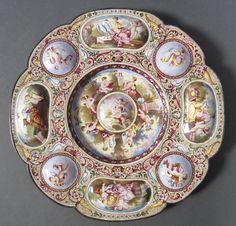 Viennese Enamel Plate, 19th C