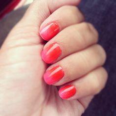 Subtle orange to pink Subtle Nails, Cool Nail Designs, Fingers, Nail Art, Orange, My Style, Makeup, Pretty, Pink