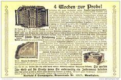 Original-Werbung/ Anzeige 1901 - MUSIKINSTRUMENTE HERFELD & COMPAGNIE NEUENRADE  - ca. 140 x 90 mm
