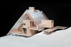 Inhabiting: Access deck and housing unit. Migrating. Sports Plaza, Winter / Possible Greenland; Model: Tegnestuen Vandkunsten