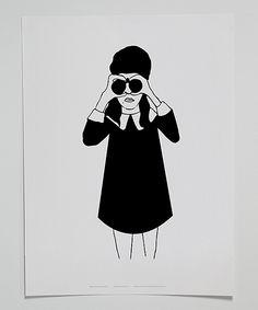 White & Black Spy Poster//