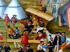 Artist: Gerung, Matthias, Title: Die Melancholie im Garten des Lebens, Vorbereitung zum Armbrustschießen, Date: 1558