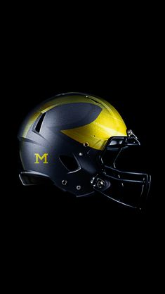Michigan Wolverines alternate helmet designed by Detroit Design Company. Connect with them on Dribbble; Detroit Football, Michigan Wolverines Football, Football Boys, Football Memes, American Football, College Football Helmets, Football Uniforms, Your My Boy Blue, Michigan Go Blue