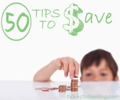 Tips to save money: 50 ideas for families. #resolution #frugal #goal
